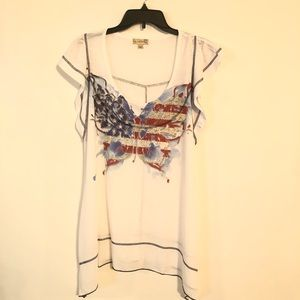 Live and Let Live Women's Blouse Size XXL